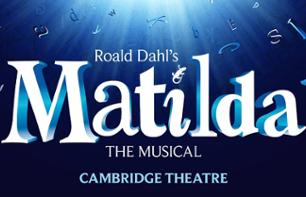 "Ticket for the musical ""Matilda"" in London"