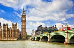 Panoramic bus tour of London and Thames river cruise (optional)
