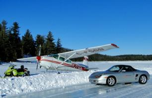 Skiplane Flight and Ice Driving Session in a Porsche – Departing from Trois-Rivières