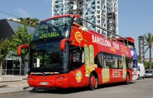 Hop-On, Hop-Off Bus Tour of Barcelona & Eco-Friendly Catamaran Cruise
