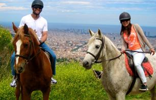 Horse Riding in a Natural Park of Barcelona