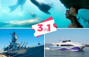 3-in-1 Offer: Visit to the USS Iowa Battleship + Admission to the Aquarium of the Pacific + Sightseeing Cruise in Los Angeles